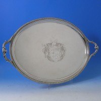 d5486: Antique Sterling Silver Tray - Hallmarked In 1807 London - George III Georgian - image 1