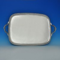 j6128: Antique Sterling Silver Tray - Thomas Robinson I Hallmarked In 1811 London - George III Georgian - image 1