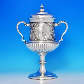 B1316: Antique Sterling Silver Trophy - Edward & Noble Haseler Hallmarked In 1896 Birmingham - Victorian - Image 1
