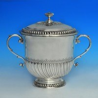 j6558: Antique Sterling Silver Trophy - William Comyns Hallmarked In 1910 London - George V  - image 1