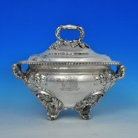 j5912: Antique Old Sheffield Plate Soup Tureen - Circa 1815 - George III Georgian - image 1
