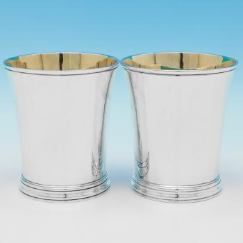 B9482:  Sterling Silver Beakers - Munsey & Co Hallmarked In 1925 London - George V - Image 1