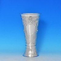j7986: Antique Sterling Silver Vase - William Moering Hallmarked In 1900 London - Victorian - image 1
