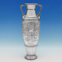 J8751: Antique Sterling Silver Vase - Steven Smith Hallmarked In 1880 London - Victorian - Image 1