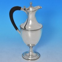 b0014: Antique Sterling Silver Water Jug - Hallmarked In 1783 London - George III Georgian - image 1