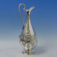 d2310: Antique Sterling Silver Wine Ewer - Barnard Brothers Hallmarked In 1871 London - Victorian - image 1