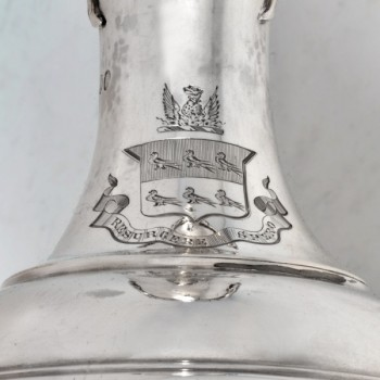 j9867: Antique Sterling Silver Wine Ewer - Steven Smith Hallmarked In 1879 London - Victorian - image 2